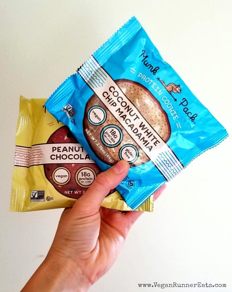 Organic plant-based protein cookies by Munk Pack