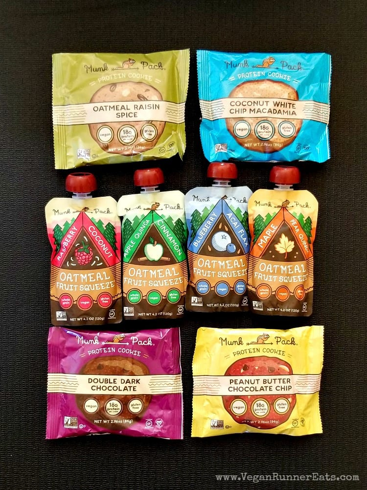 Vegan protein cookies and oatmeal packs by Munk Pack
