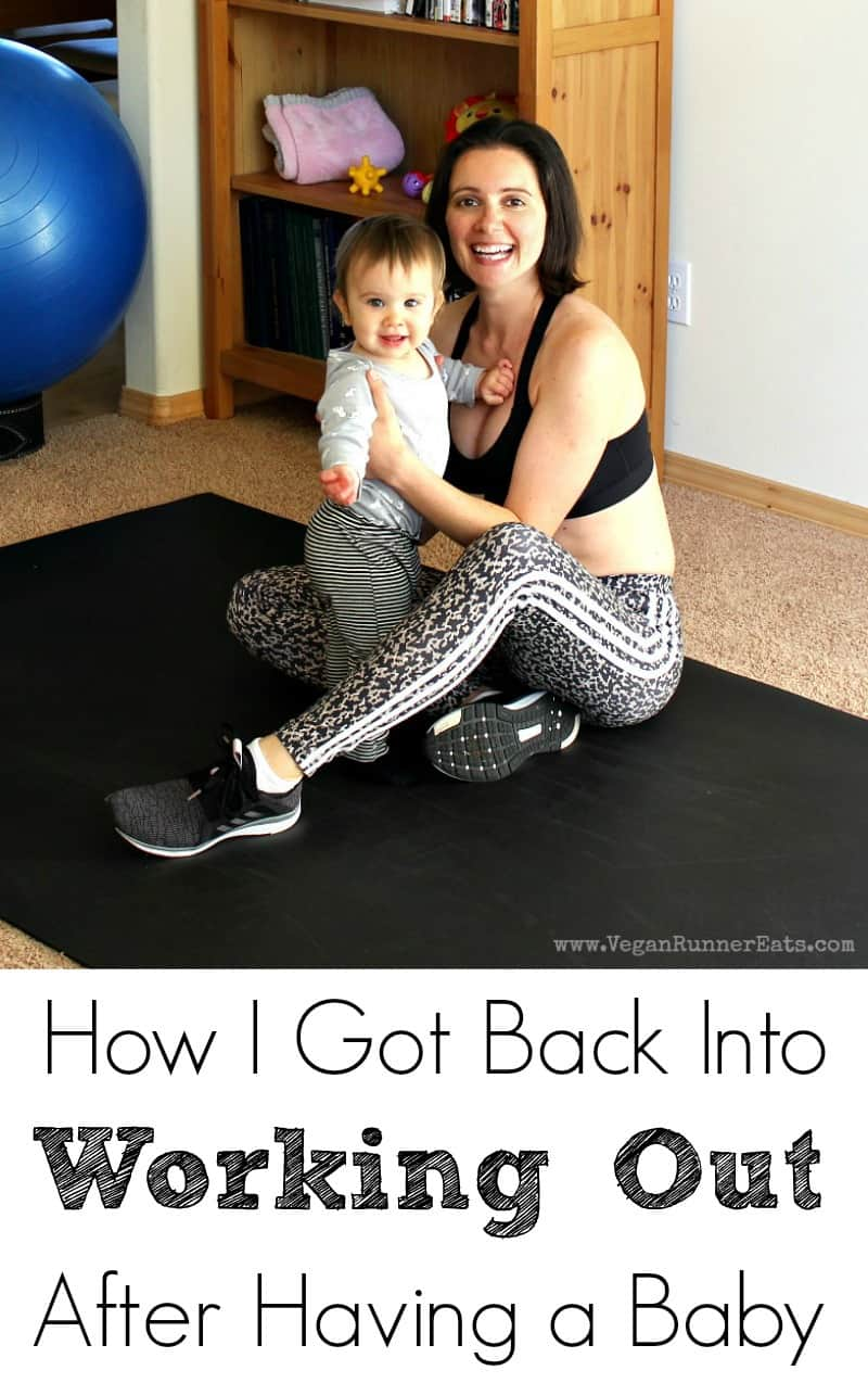 Working out after having a baby - my fitness journey in the first year of motherhood