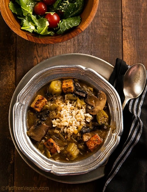 mushroom-tempeh-gumbo from Fat Free Vegan