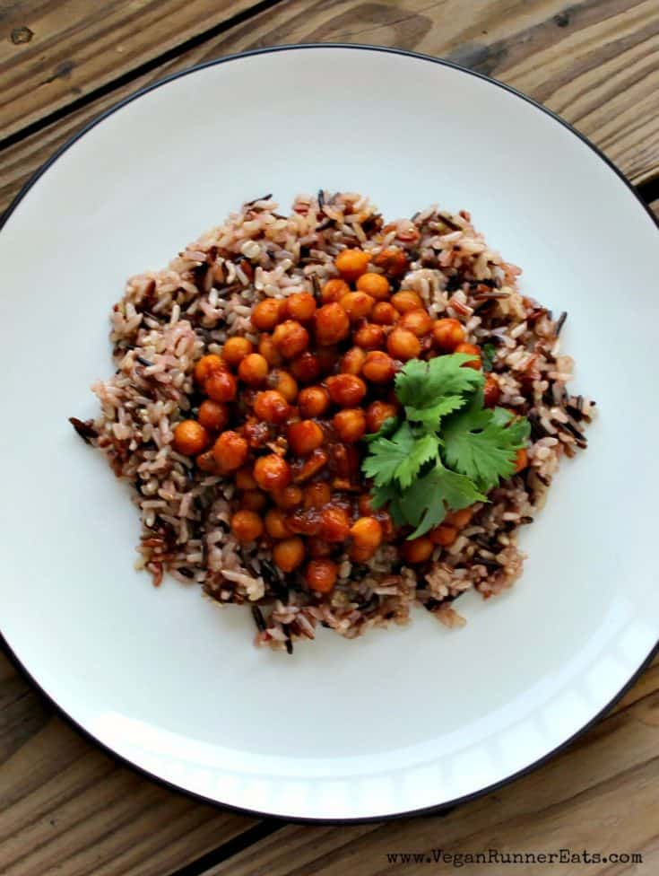 Easy BBQ Chickpeas and Rice