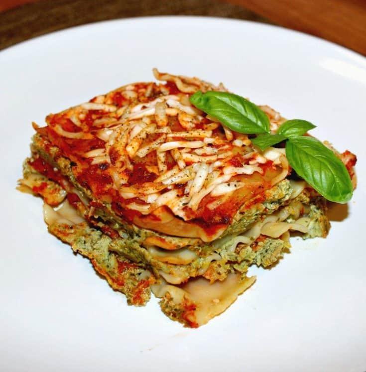 Vegan Lasagna with Mushrooms, Kale and Tofu