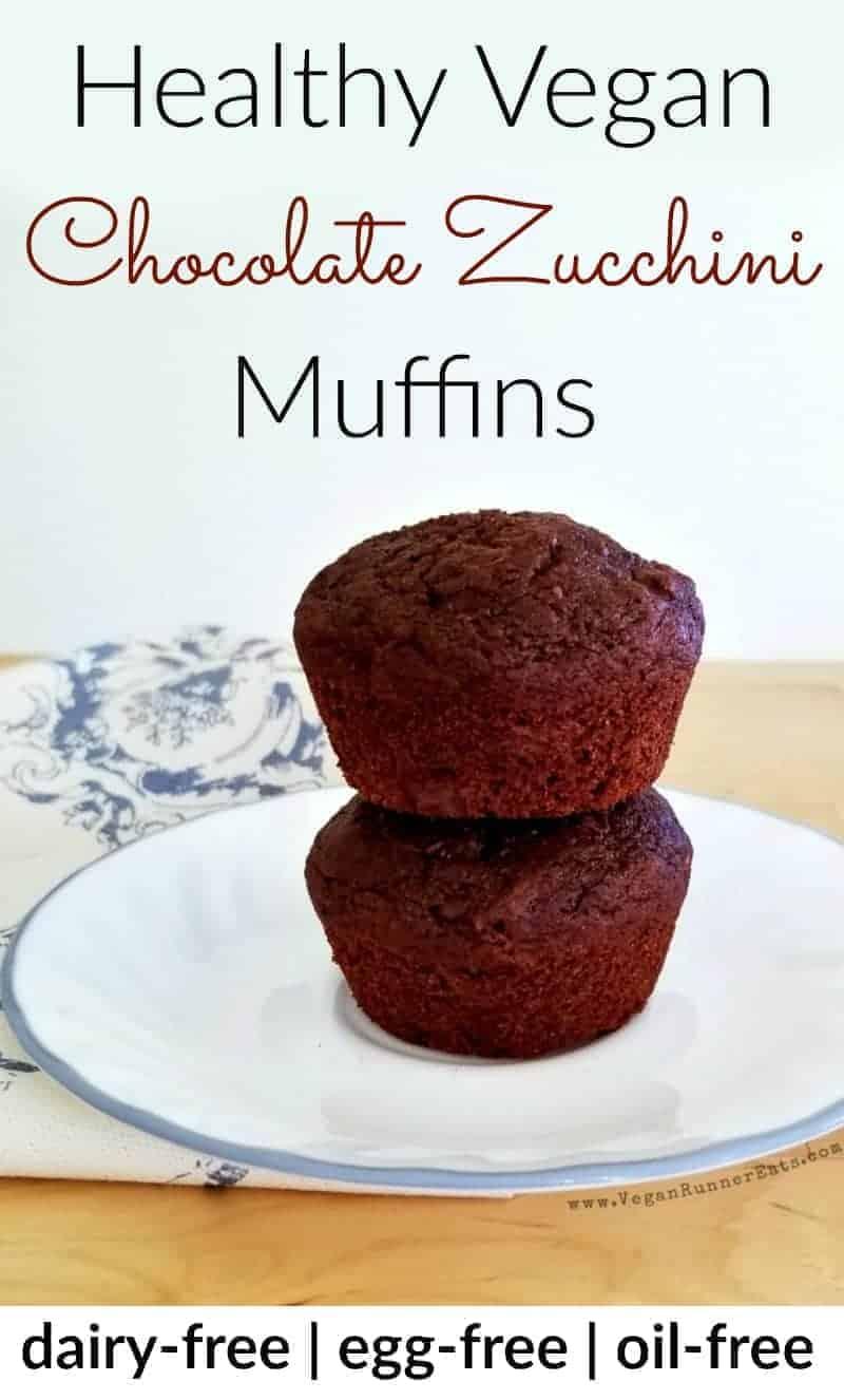 Healthy vegan chocolate zucchini muffins recipe | dairy-free chocolate muffin recipe| egg-free chocolate muffins | oil-free vegan chocolate muffin recipe | healthy muffin recipe