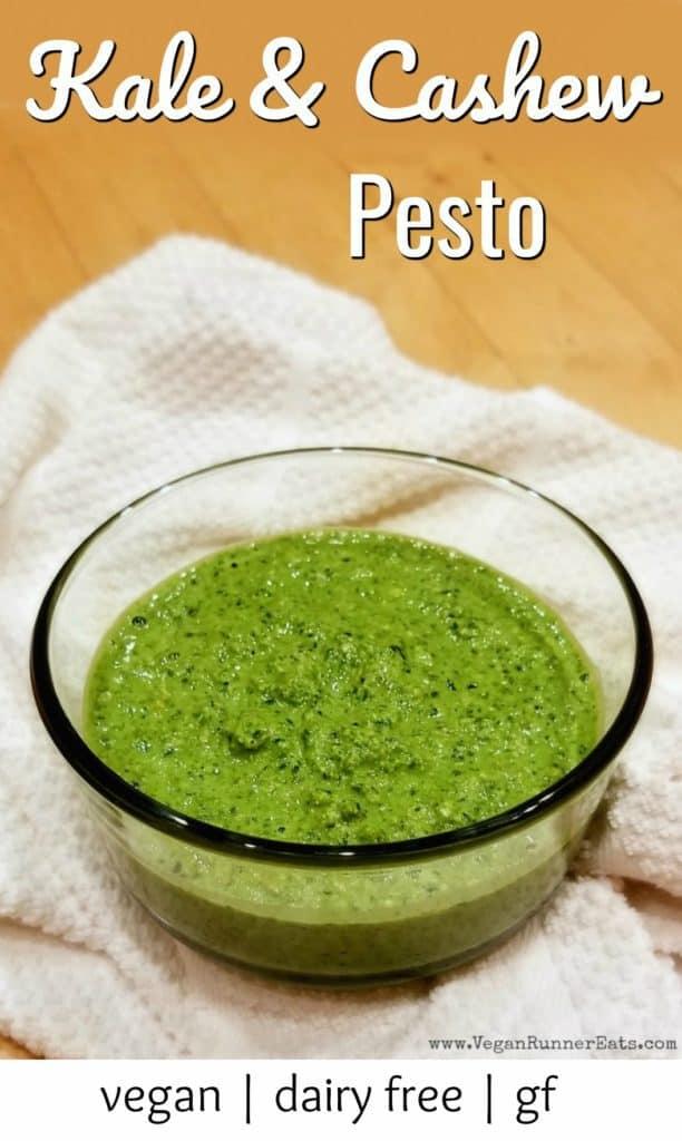Kale and cashew pesto recipe - vegan pesto recipe with kale, basil and pesto