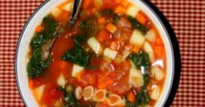 Healthy Vegan Minestrone Soup with Kale