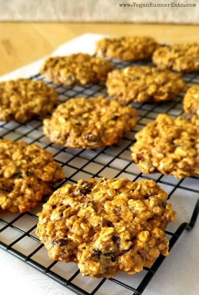 Vegan Oatmeal Raisin Cookies recipe with aquafaba