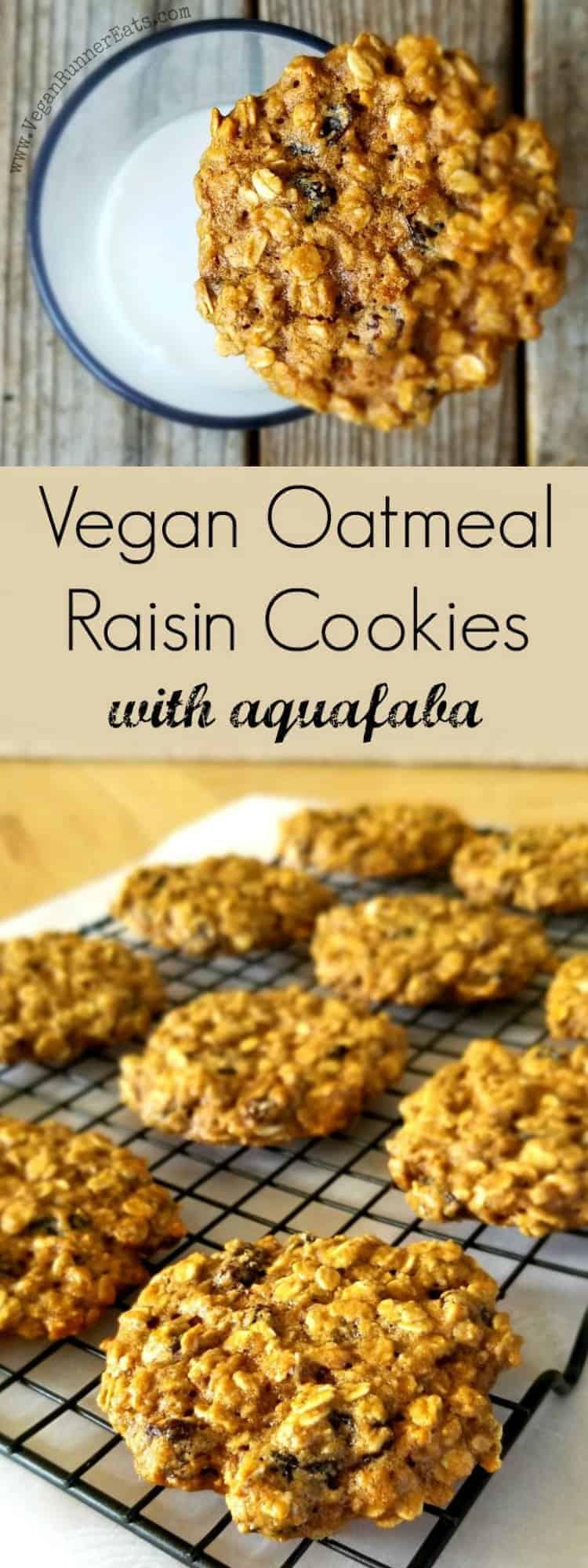 Vegan Oatmeal Raisin Cookies Recipe - vegan cookies made with aquafaba