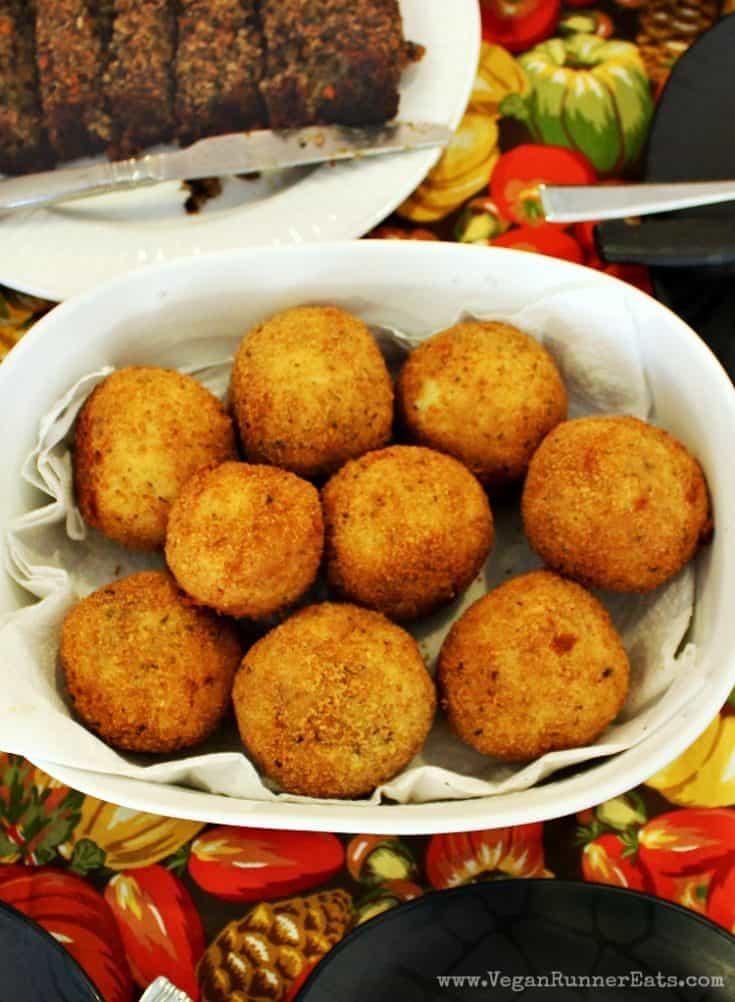 Vegan Stuffed Italian Rice Balls