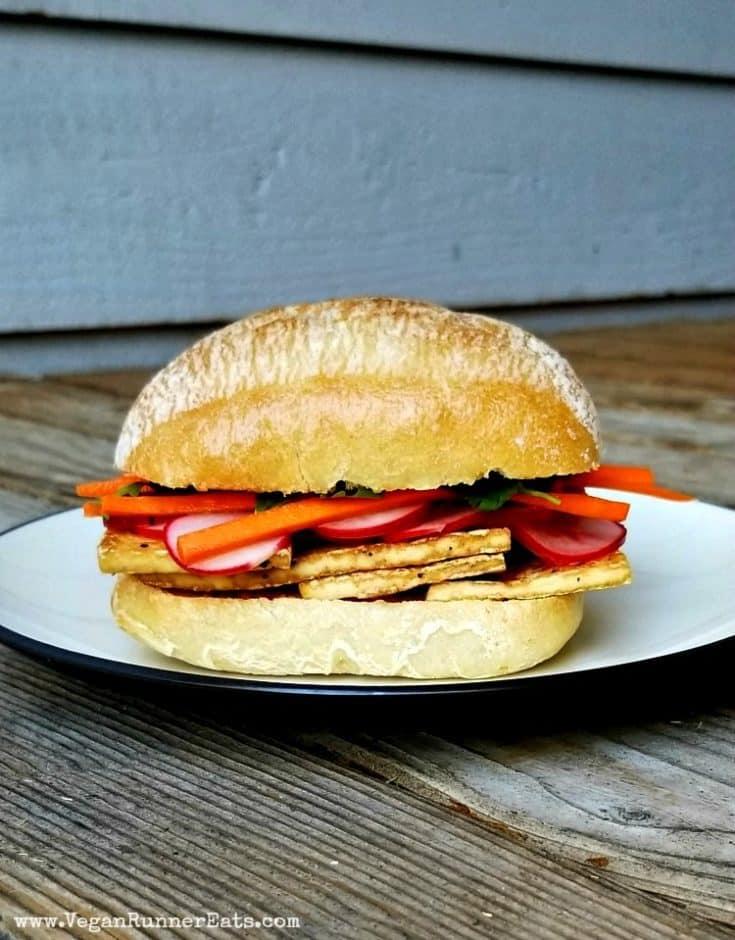 Easy Vegan Tofu Banh Mi Sandwich Recipe