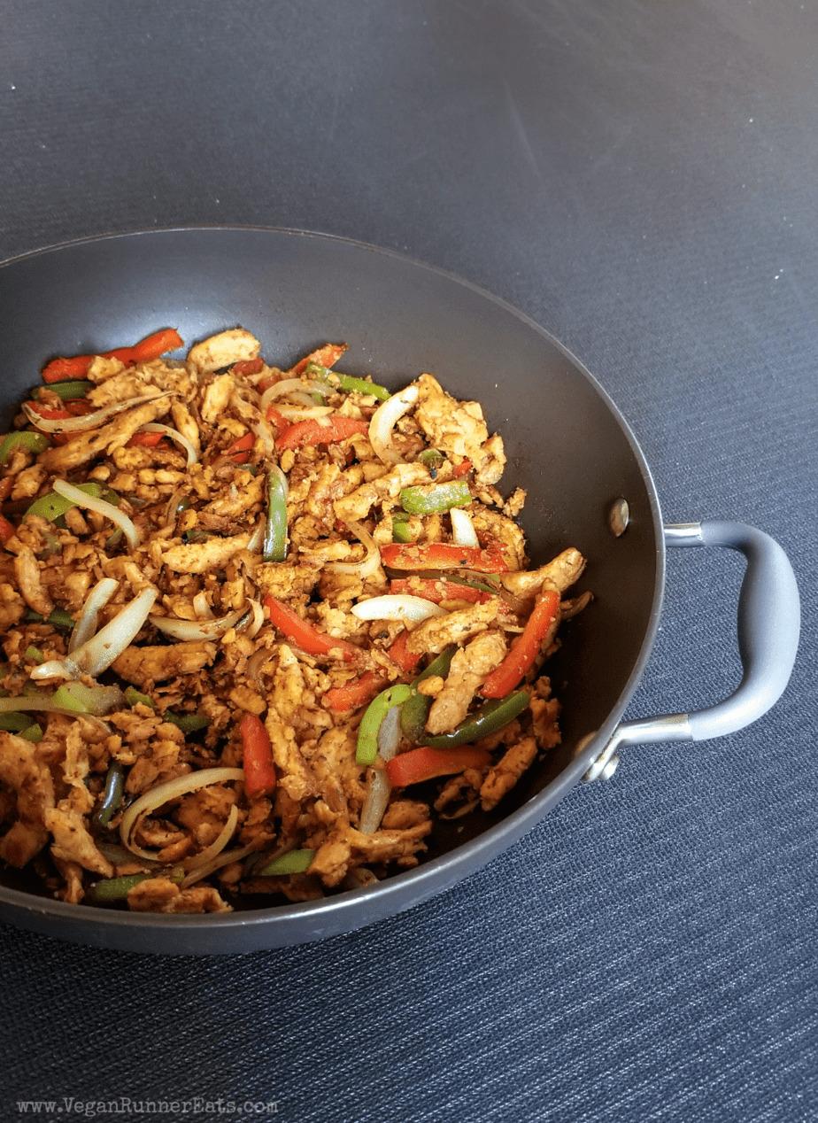 Vegan fajitas with soy curls recipe