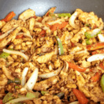 Vegan Fajita Filling Recipe with Soy Curls, Peppers and Onions