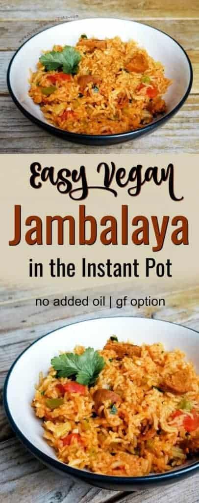 Easy vegan jambalaya in the Instant Pot
