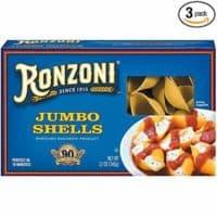 Ronzoni - Italian Style Jumbo Shells, (3)- 12 oz. Boxes