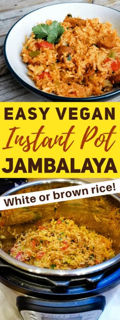 Easy Instant pot vegan jambalaya recipe