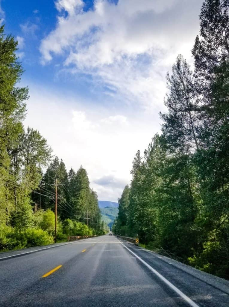 The road to Leavenworth, WA