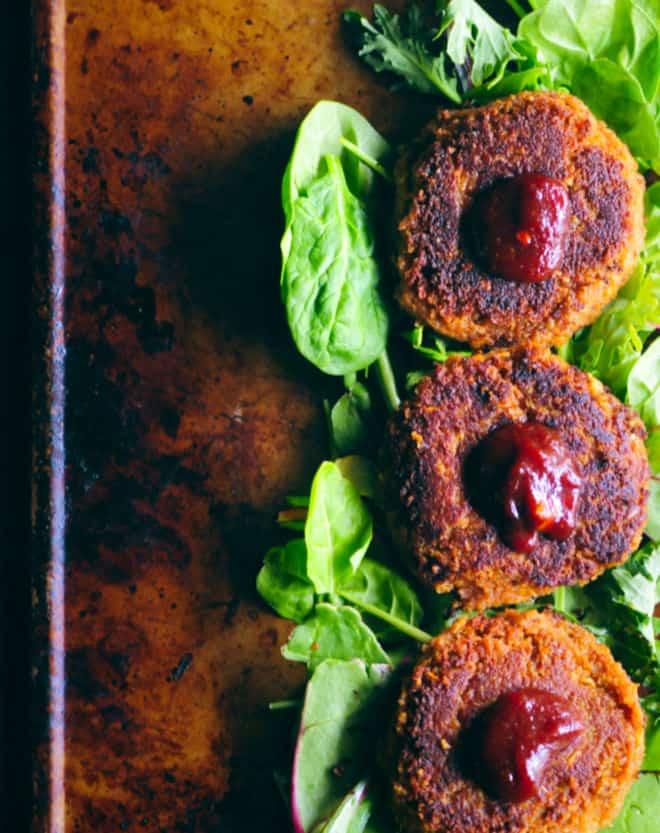 Gluten-free BBQ Chickpea Walnut Burgers