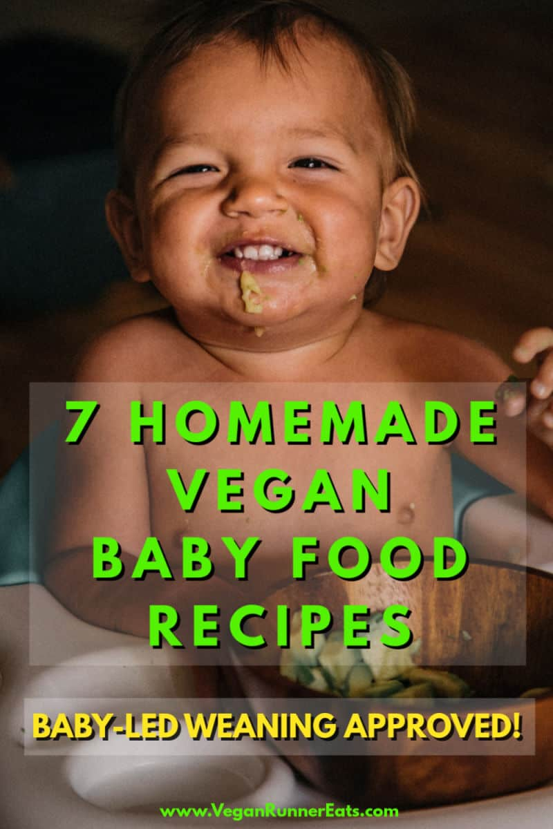 7 homemade vegan baby food recipes for babies 6 months and up - baby-led weaning approved | Vegan Runner Eats