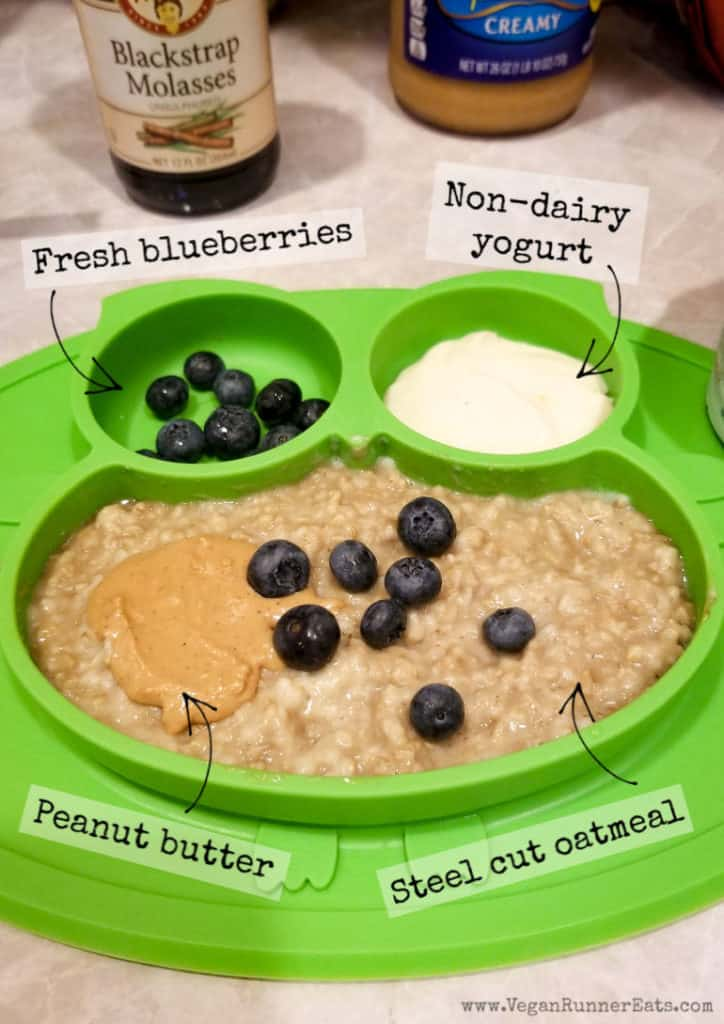 What vegan kids eat for breakfast: a typical breakfast for my 2 year old vegan toddler