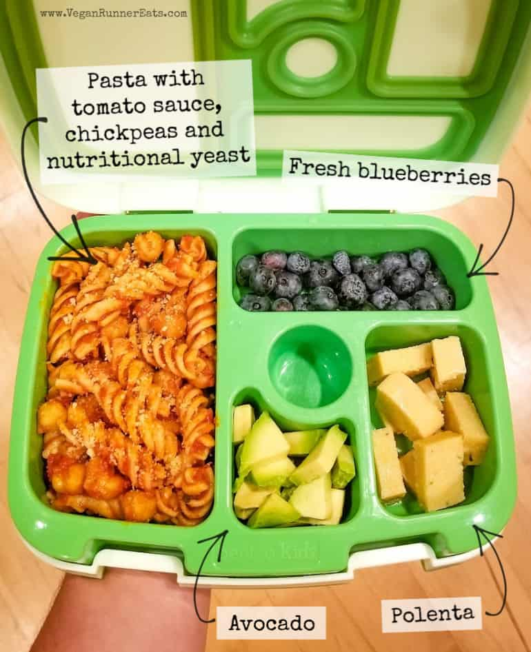 What vegan kids eat for lunch at daycare: a typical vegan lunch I pack for my vegan toddler to bring to daycare.