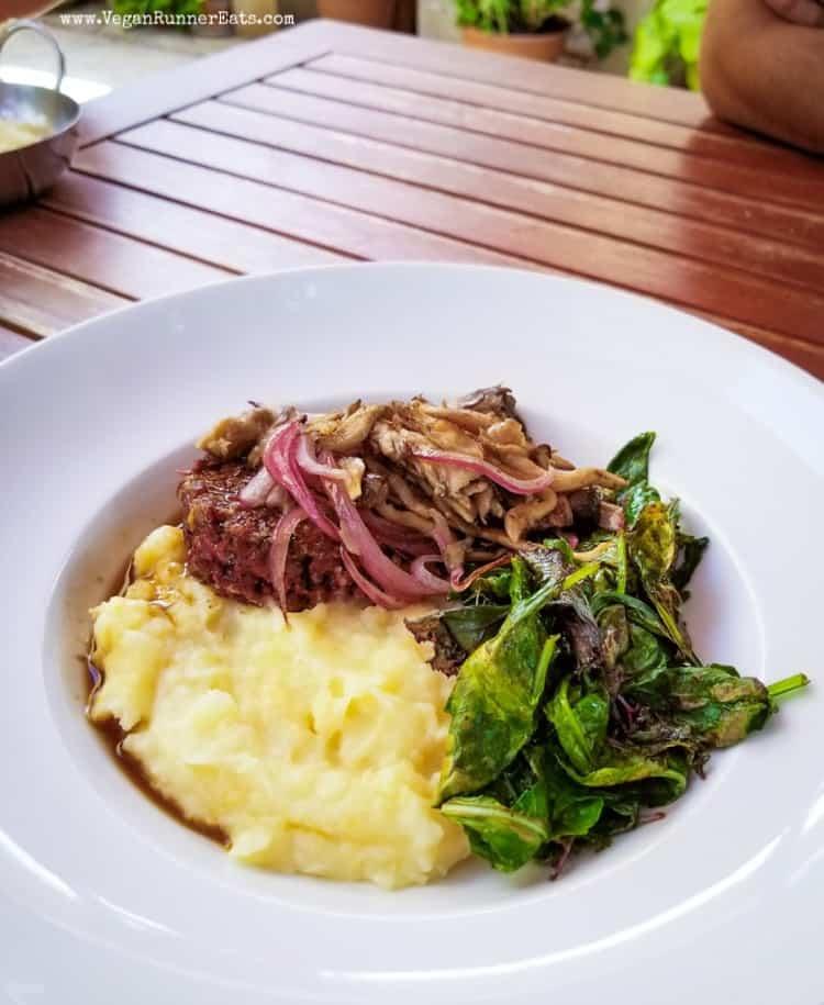 Vegan food in San Diego: Salisbury tempeh at Donna Jean San Diego