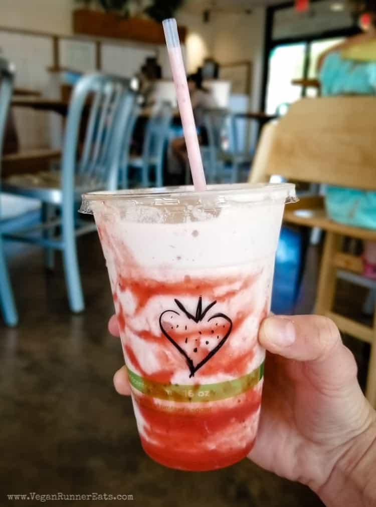 Vegan restaurants in San Diego: milkshake at Plant Power Fast Food