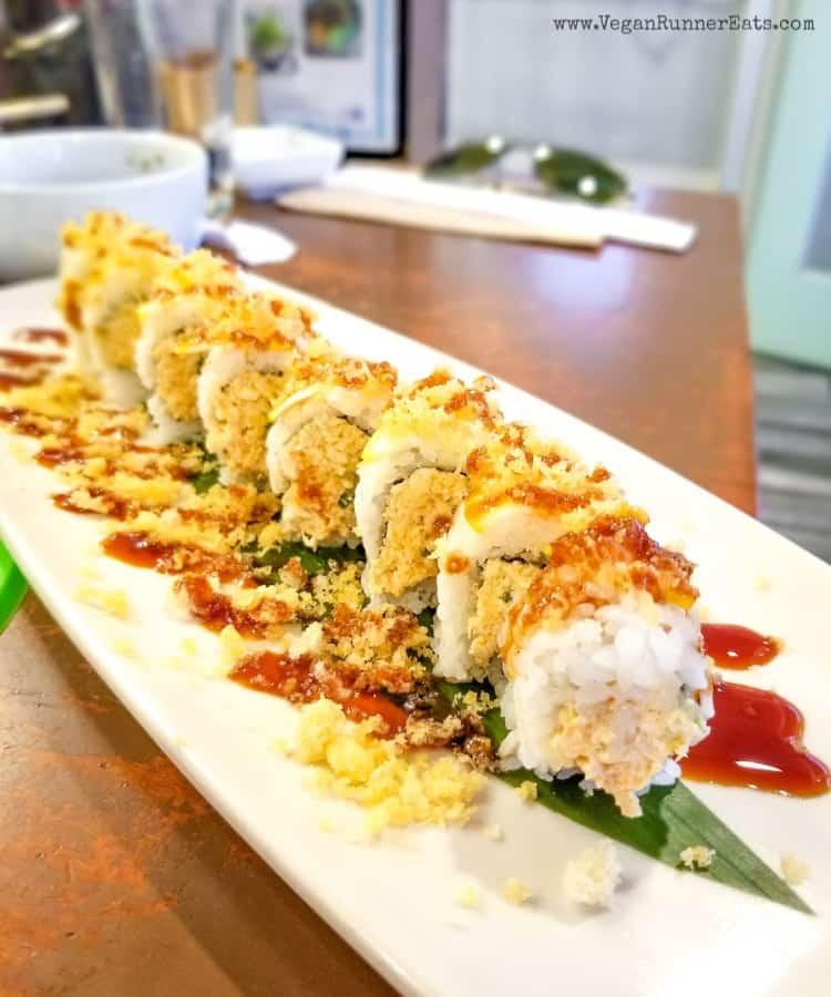 Vegan sushi in San Diego: Zane roll at NoW Sushi