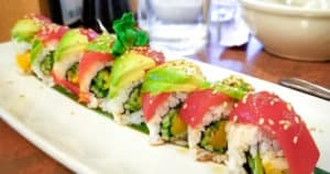Vegan sushi in San Diego at NoW Sushi