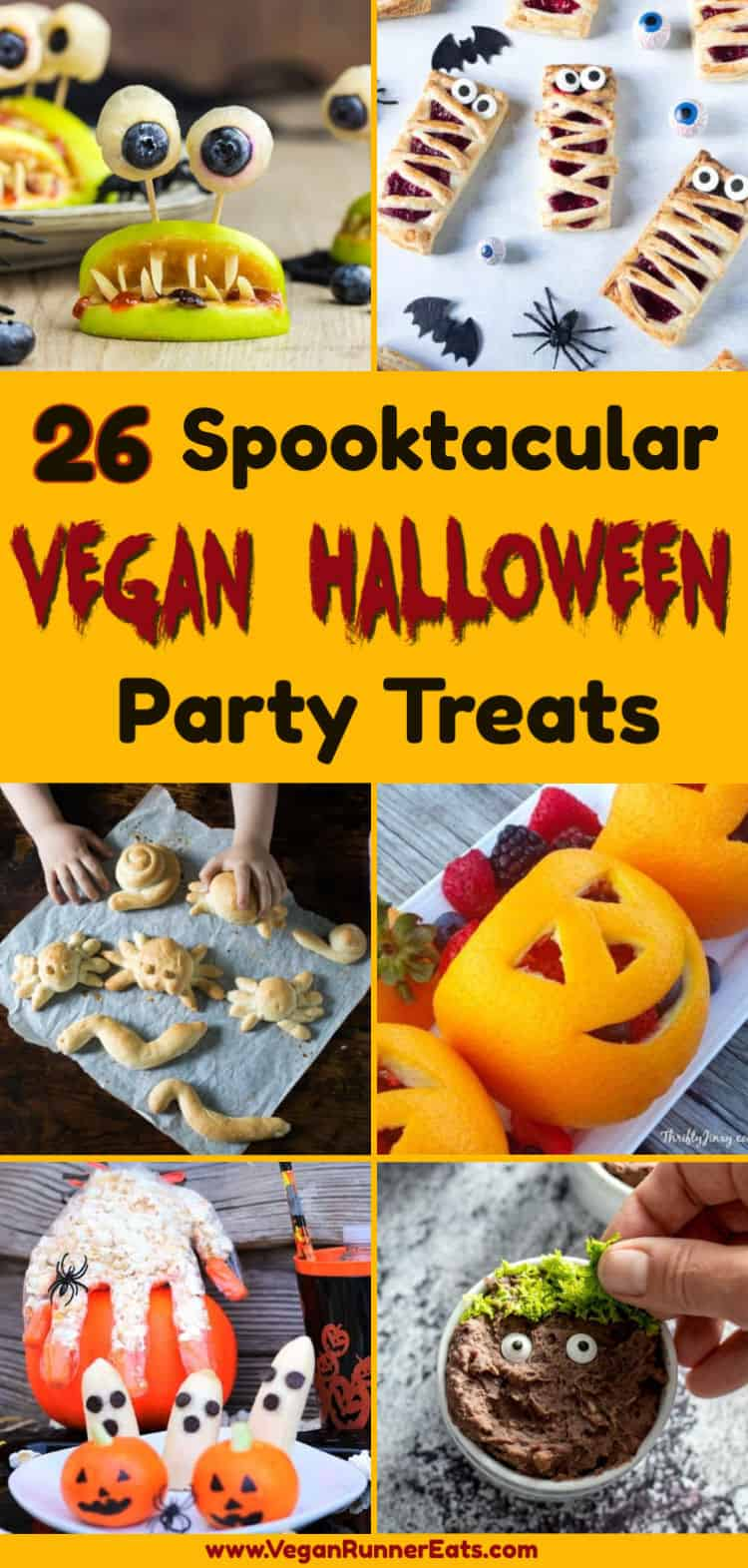 26 spooktacular vegan Halloween recipes: easy vegan appetizers, main course, and sweet treats for a fun Halloween party. | Vegan Runner Eats