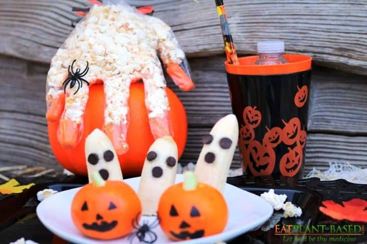 Halloween Popcorn Hands + More Plant-Based Halloween Treat Ideas