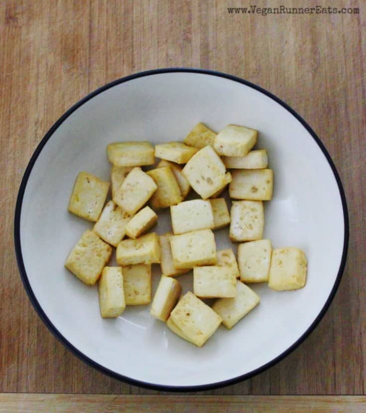How to make oil-free baked tofu: a basic method for making crispy baked tofu without frying it in oil