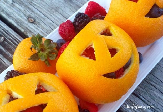 Orange Fruit Jack-O-Lanterns