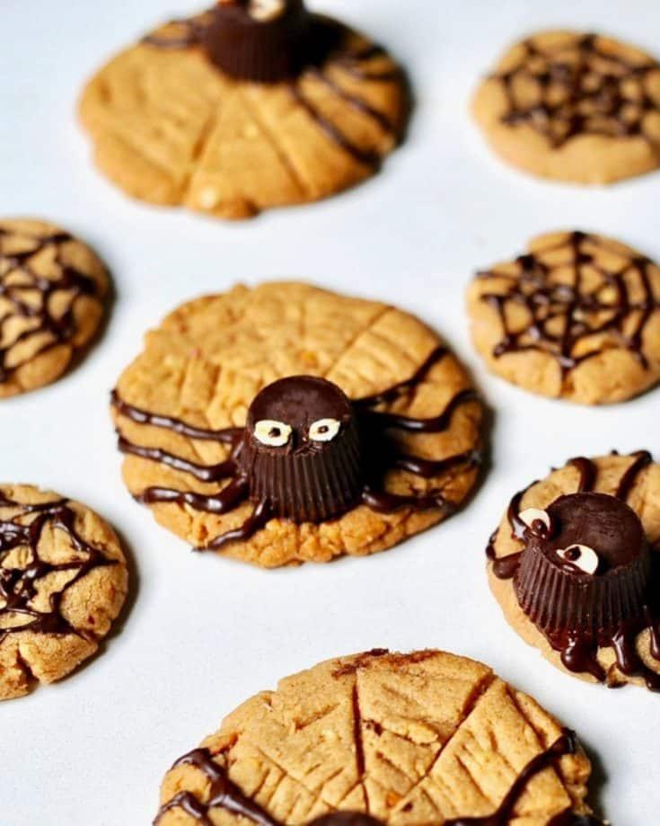 Peanut Butter Spider Cookies (Gluten Free)