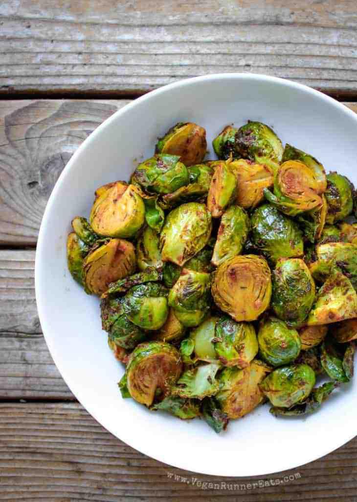 Vegan side dish: Smoky vegan Brussels sprouts