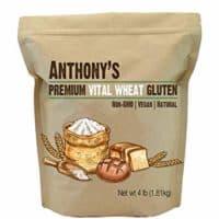 Anthony's Vital Wheat Gluten, 4lbs, High in Protein, Vegan, Non GMO, Keto Friendly