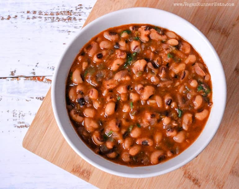 Southern style black eyed peas vegan recipe for Instant Pot