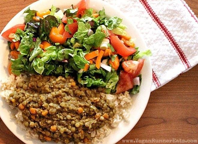 Easy vegan lentil stew recipe
