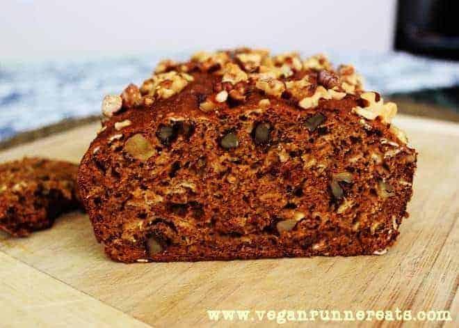Vegan pumpkin walnut bread recipe