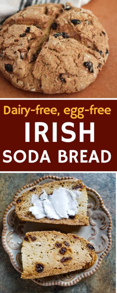 Irish soda bread recipe (dairy free + egg free)