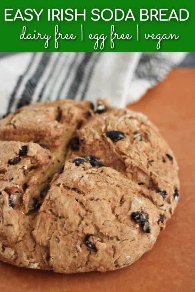 Easy Irish soda bread - dairy free, egg free, vegan