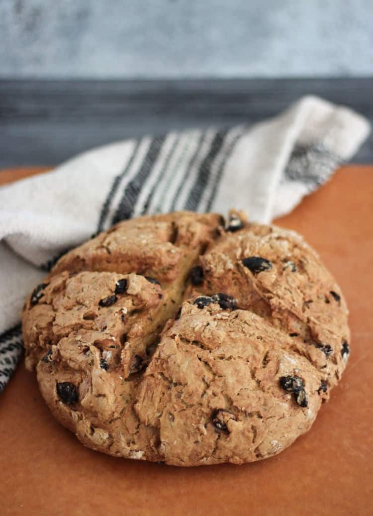 How to make Irish soda bread with no buttermilk, yeast, or eggs.