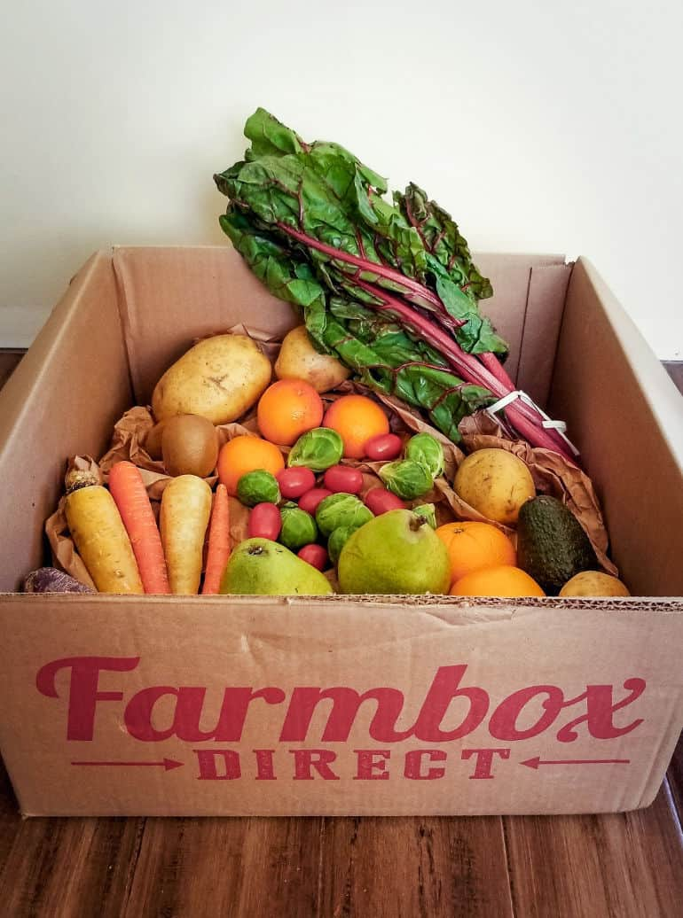 A review of Farmbox Direct organic produce delivery service.