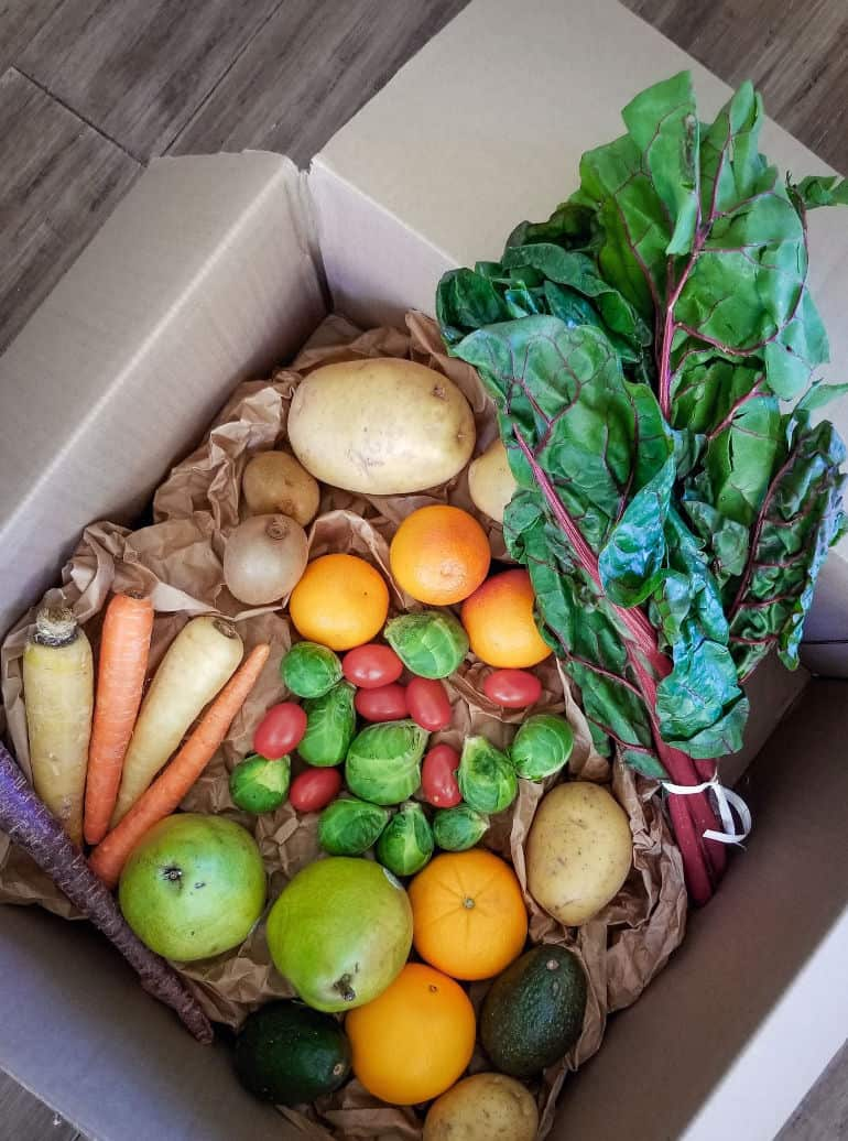 How to get fresh produce delivered to your door weekly with Farmbox Direct.