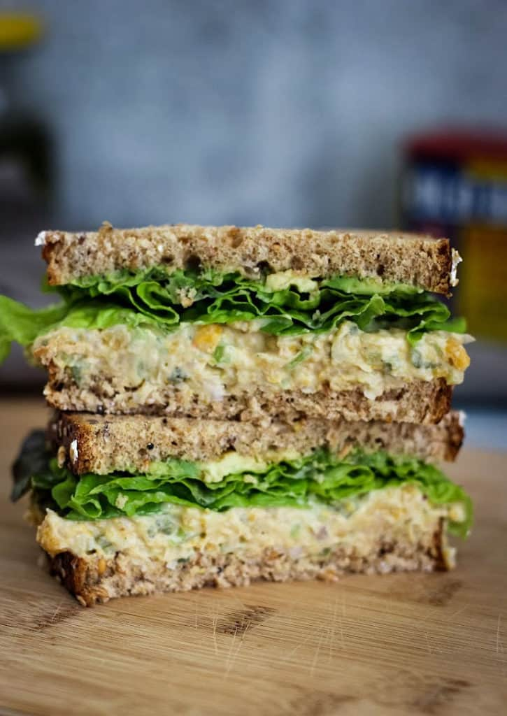 How to make chickpea salad sandwich for lunch