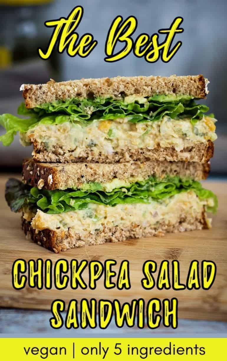 The best chickpea salad sandwich recipe