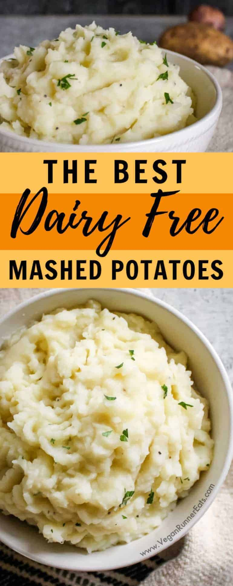 The best dairy free mashed potatoes recipe - easy enough to make every day, yet delicious for special occasions like Thanksgiving or Christmas!