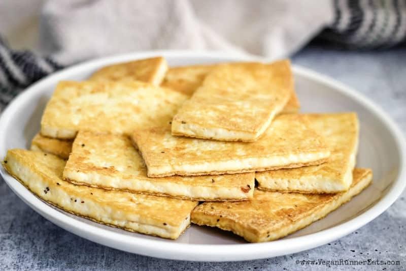 Fried tofu for tofu tacos recipe