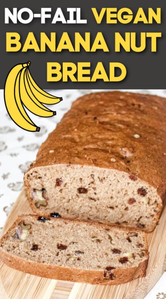 Easy vegan banana bread recipe - oil free, plant based, healthy.