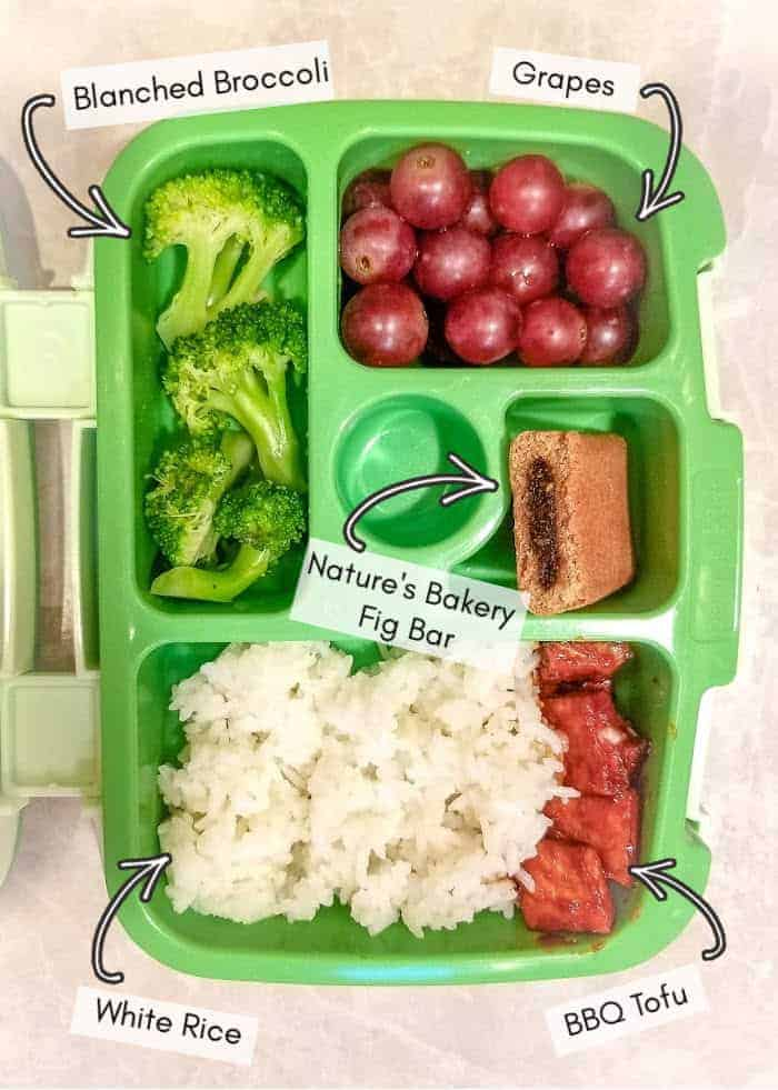 Vegan daycare lunchbox for my toddler, example #11