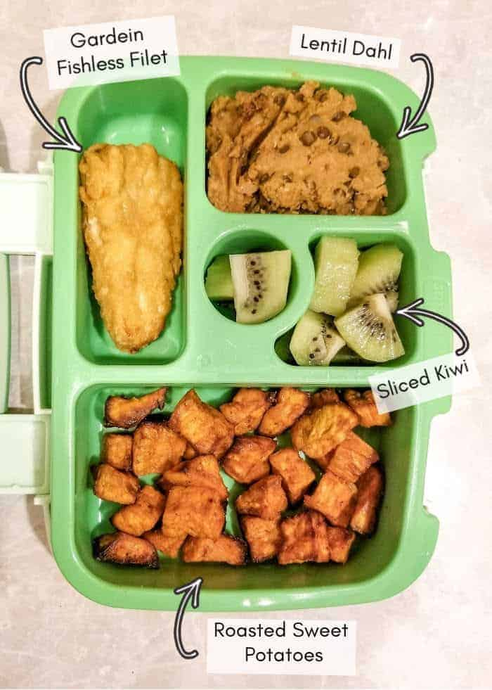 My vegan toddler's daycare lunchbox example #12