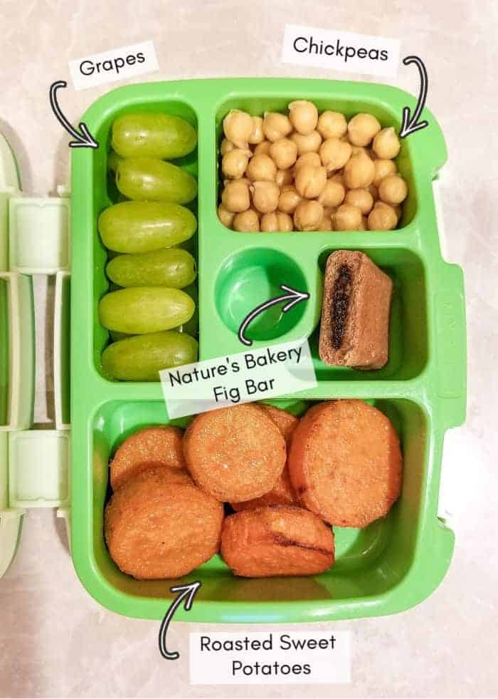 Vegan daycare lunchbox for my toddler, example #15